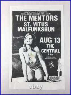 Malfunkshun St. Vitus Mentors The Central SEATTLE Aug 13 1987 Concert Poster
