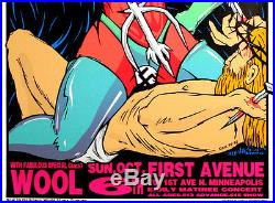 Masters of Rock Melvins Wool 1994 Original Concert Poster by Frank Kozik S/N