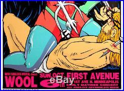 Melvins & Wool 1994 Masters of Rock Original Concert Poster By Frank Kozik S/N
