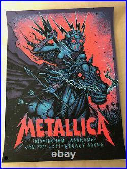 Metallica Birmingham, Alabama 1/22/2019 Munk One Concert Poster