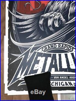Metallica Concert Poster 03/13/2019 Grand Rapids Michigan #418/450 Rare NOT EMEK