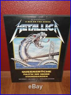 Metallica Day on the Green concert poster Qeensryche, soundgarden, Faith no more