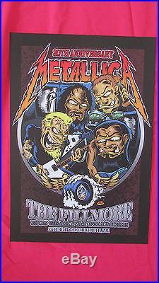 Metallica Rare 30th Anniversary Concert Show Poster Fillmore December 10 2011