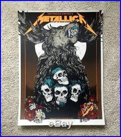 Metallica S&M2 Night two Concert Poster Chase Center San Francisco Symphony 9/8