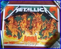Metallica Slane Castle, Meath Dublin 2019 concert poster/print limited Rare