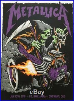 Metallica @ U. S. Bank Arena Cincinnati 2019 Concert Poster, art byBrandon Heart