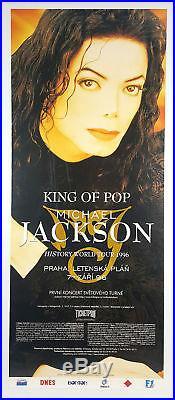 Michael Jackson 1996 HIStory Tour Prague Concert Poster