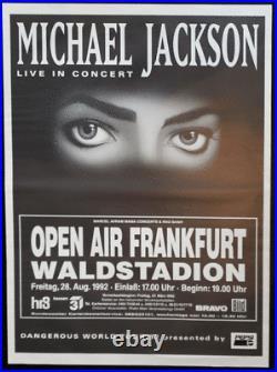 Michael Jackson Concert Poster 1992 Frankfurt