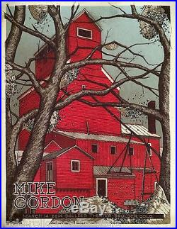 Mike Gordon Phish Boulder Theater poster 3/14/14 official concert poster s/n