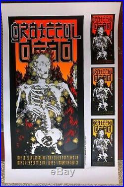 Mint'95 Grateful Dead Silkscreen Signed & #'d Concert Poster Proof Sheet Kelley