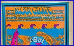 Moby Grape 1967 Poster. Rare 1st Printing Framed Concert Poster Framed