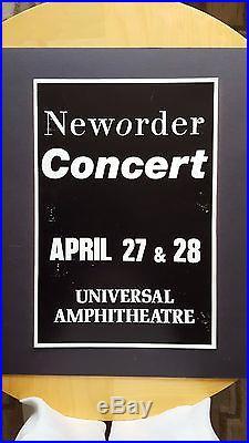 NEW ORDER Concert Original Boxing Style Concert Poster 1989 JOY DIVISION Goth
