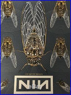 NINE INCH NAILS CONCERT POSTER S/N XX/15 Gig Print For Nashville Show AP