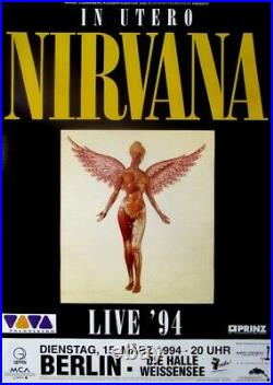 NIRVANA 1994 Plakat In Concert In Utero Tour Poster Berlin