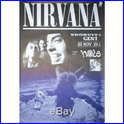 NIRVANA / HOLE Wooruit Gent 23.11.1991 Belgium 1991 original concert poster