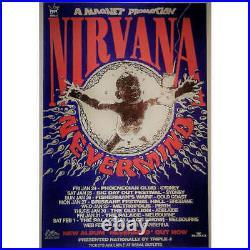 NIRVANA Nevermind Australian 1992 Tour OZ original promo tour concert POSTER