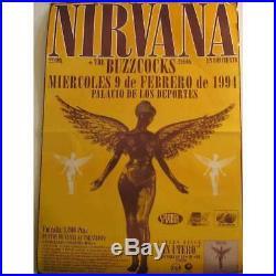 NIRVANA Palacio De Los Deportes Barcelona 9.2.1994 SPAIN original Concert Poster