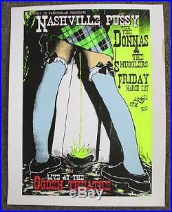Nashville Pussy Donnas Denver 2000 Original Concert Poster Kuhn Silkscreen