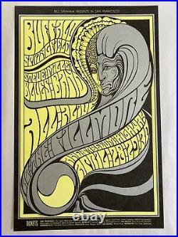 Neil Young Steven Stills Steve Miller Concert Poster From 1967 Original Vintage