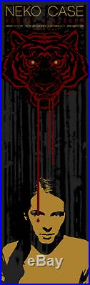 Neko Case Sadies Nyc 2005 Concert Poster Todd Slater Silkscreen Original