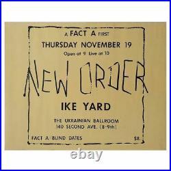 New Order 1981 Ukranian Ballroom Concert Poster (USA)