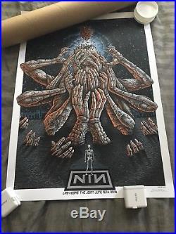 Nine Inch Nails NIN Las Vegas June 16 2018 Concert Print Poster /300 Signed EMEK