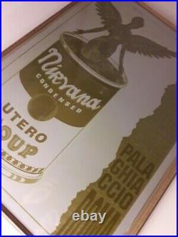 Nirvana Concert Poster Art Original Metal Printing Plate Italy 1994 Rome Signed