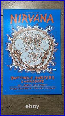 Nirvana Concert Poster MINT (1993 NYE)