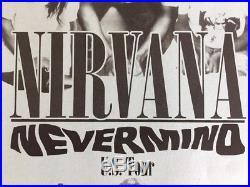 Nirvana Nevermind U. S. Tour Original Concert Poster 1991 11x17