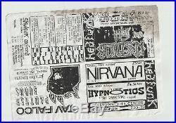 Nirvana Tad Cobian Grunge Original Rare Concert Handbill Flyer