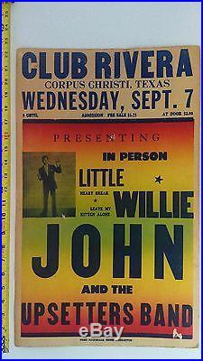 ORIGINAL 1960/61 Little Willie John CONCERT POSTER withThe Upsetters BOXING STYLE