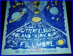 ORIGINAL 1967 Paul Butterfield Blues Band BG-72 Concert Poster BONNIE MACLEAN