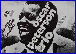 OSCAR PETERSON 1971 German A1 concert poster GUNTHER KIESER NM