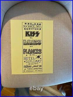Original 1973 Kiss Gene Simmons Hotel Diplomat New York Concert Handbill