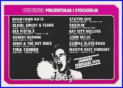 Original 1978 SEX PISTOLS, BAY CITY ROLLERS, TINA TURNER, BS&T Concert Handbill