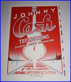 Original 2 Sided Johnny Cash Concert Poster