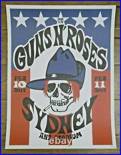 Original Guns N' Roses 2017 Sydney Australia 18x24 Concert Poster Lt Ed. 150/200
