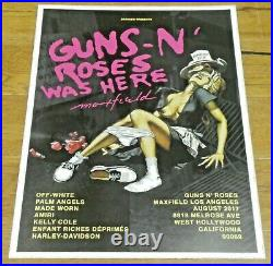 Original Guns N' Roses Was Here 2017 Maxfield Los Angeles 18x24 Concert Poster
