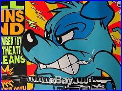 Original Kozik 1992 concert POSTER Beastie Boys Cypress Hill Blue Dog SilkScreen