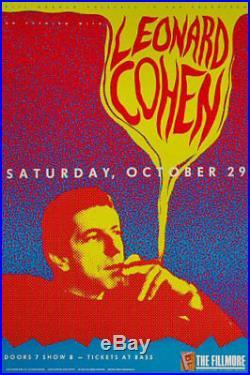 Original Leonard Cohen 1988 Fillmore Auditorium SF Concert Poster F57