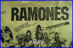 Original Ramones / Wipers 1979 Jan 3 Concert Portland Or. 17 X 11 Poster