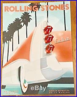 Original Rolling Stones 2016 Concert Tour Poster HAVANA CUBA Lithograph 24 X 18