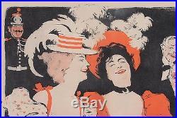 Original Vintage French Poster Concert Parisienl by Grun 1897