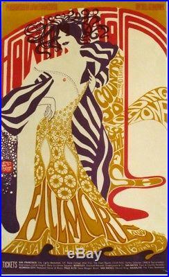 Original vintage poster HOWLIN WOLF CONCERT SAN FRANCISCO 1967