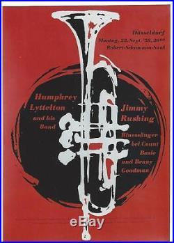 Original vintage poster HUMPHREY LITTELTON JAZZ CONCERT 1958