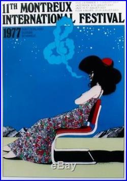 Original vintage poster JAZZ MONTREUX 1977 Milton Glaser