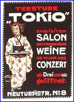 Original vintage poster TOKYO TEA SALON WINE CONCERT 1906