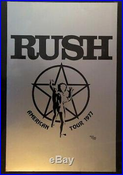 Outstanding Vintage Original 1977 Rush A Farewell To Kings Concert Tour Poster