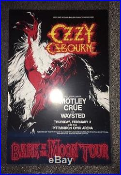 Ozzy Osbourne Motley Crue 1983 Civic Arena Pittsburgh Original Concert Poster