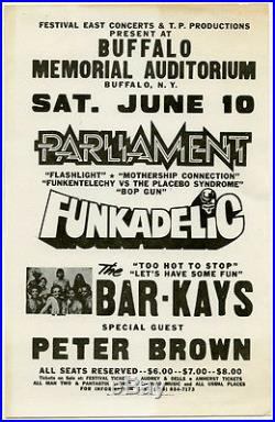 PARLIAMENT FUNKADELIC Bar-Kays 1978 Concert Handbill Flyer